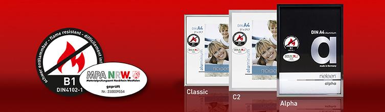 Brandschutz Bilderrahen Classic, C2 oder Alpha von Nielsen